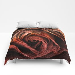 Bleeding Rust Rose Comforters
