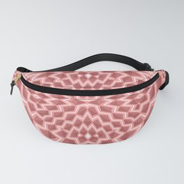 Coral pink geometric Fanny Pack