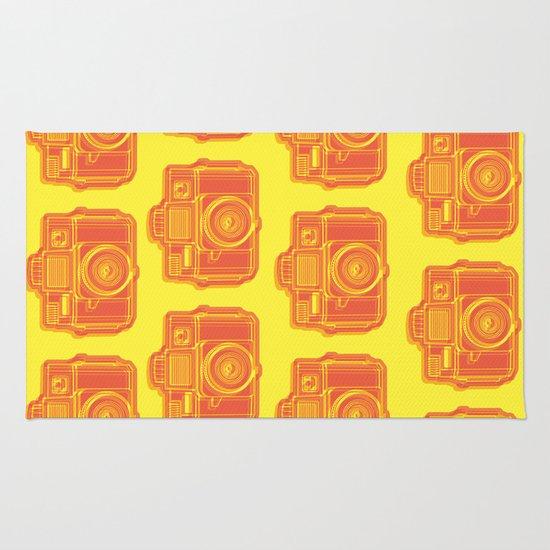 I Still Shoot Film Holga Logo - Yellow & Red Rug
