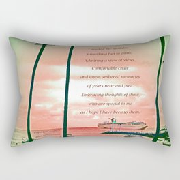"""""""Inspiration At Catalina"""" with poem: My Own Day Rectangular Pillow"""