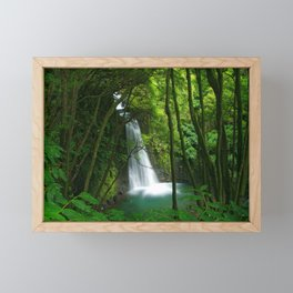 Waterfall in the Azores Framed Mini Art Print