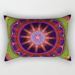 Fantasy flower mandala with tribal patterns Rectangular Pillow