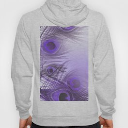 Modern purple lilac abstract peacock feathers gradient Hoody