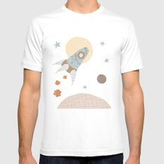 spaceship collage Mens Fitted Tee MEDIUM White