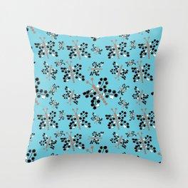 butterfly dots Throw Pillow