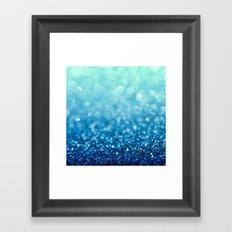 Tell Me True...Ocean Blue Framed Art Print