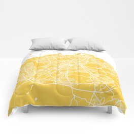 Edinburgh map yellow Comforters