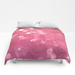 Passionate Pink Champagne Bubbles Comforters