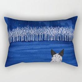 Blue Forest, Starry Sky (Blue Heeler) Rectangular Pillow