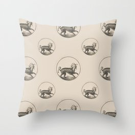 Mythical Victorian Lady Cat Throw Pillow