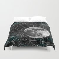 borderlands Duvet Covers featuring Midnight by Astrablink7