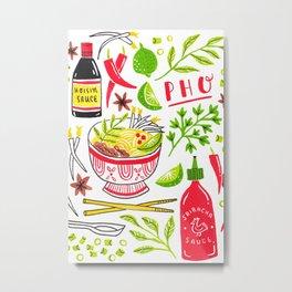 Vietnamese Pho Soup Sriracha Metal Print