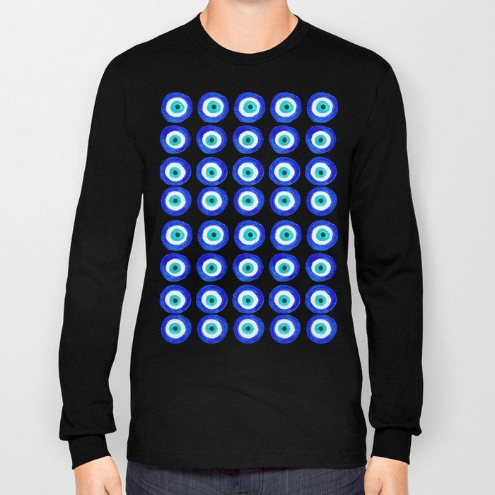 Evil Eye Amulet Talisman - on white Long Sleeve T-shirt