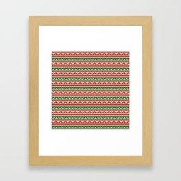 Abstract pattern: christmas Framed Art Print