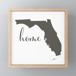 Florida is Home Framed Mini Art Print