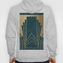 Art Deco glamour - teal and gold Hoody
