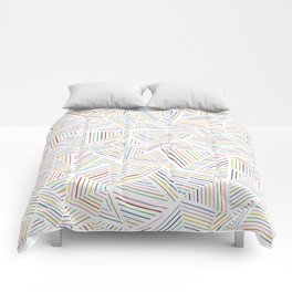 Abstraction Linear Rainbow Comforters