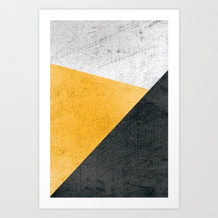 Modern Yellow & Black Geometric Kunstdrucke