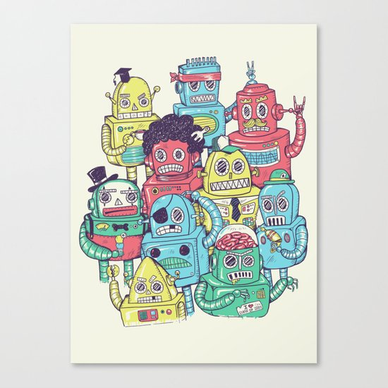Robot's can't Smile Canvas Print