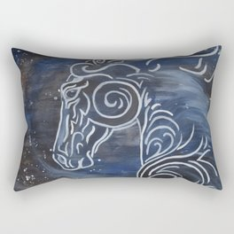 Horse and Stardust Rectangular Pillow