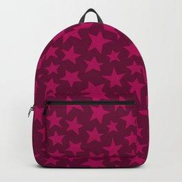 Raspberry Doodle Stars Backpack