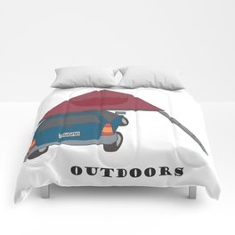 Camping Outdoors Digital Art Comforters