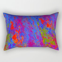 Swimming in Lava Rectangular Pillow
