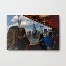 Freedom Tower & Tourists Metal Print