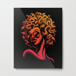 Funky Medusa II Metal Print