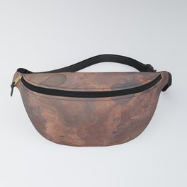 Tarnished, Stained and Scratched Copper Metal Texture Industrial Art Fanny Pack