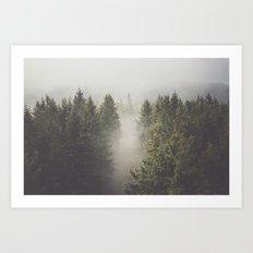 My misty way Art Print