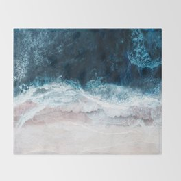 Blue Sea II Throw Blanket