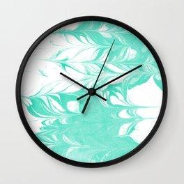 Ryuki - spilled ink marbled watercolor painting minimal modern art decor marbling marble Wall Clock