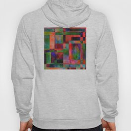Abstract Pattern with Leaves Hoody