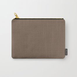Brown Taupe Solid Summer Party Color Carry-All Pouch