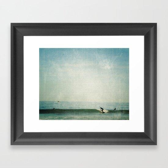 surf days Framed Art Print