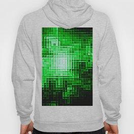 Nebula Pixels Emerald Green Hoody