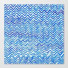 Blue triangle pattern Canvas Print