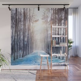 Feather Dance In Winter Wall Mural