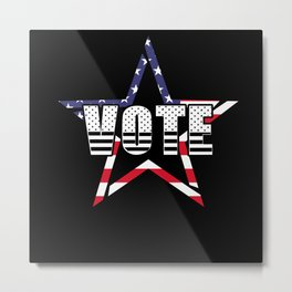 Abstract Star And Vote Illustration Metal Print