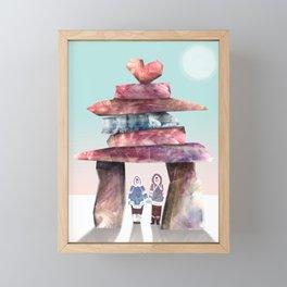 Inuksuk Love Framed Mini Art Print