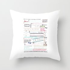 Thoughts of the Day Throw Pillow