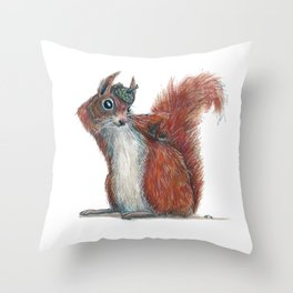 Squirrels' hat Throw Pillow