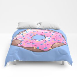 Pink Strawberry Donut Comforters