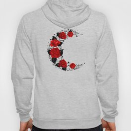 Moon of Red Roses Hoody
