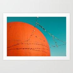 Grand Orange Art Print