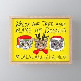 Holiday Cat Brats Framed Mini Art Print