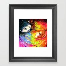 RAINBOW AND NIGHT Framed Art Print