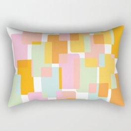 Pastel Geometric Shape Collage Rectangular Pillow
