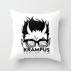 Krampus logo by Dawlism Throw Pillow